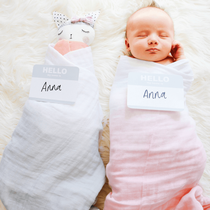 Dip-Dyed Organic Swaddle Blanket - Petal - Project Nursery