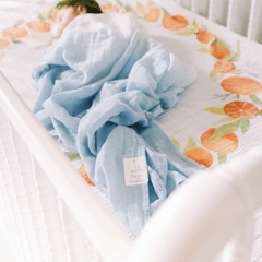 Dip-Dyed Organic Swaddle Blanket - Sky - Project Nursery