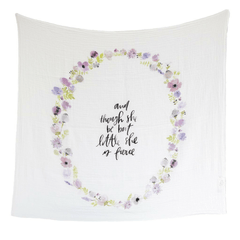 Lavender Blooms Organic Swaddle Blanket - Project Nursery
