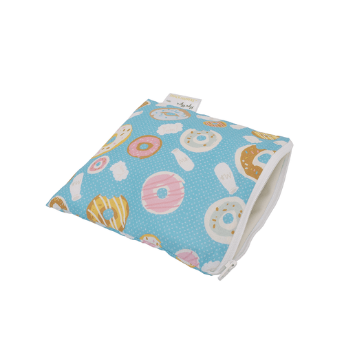SNACK HAPPENS REUSABLE SNACK & EVERYTHING BAG - DONUT SHOP - Project Nursery