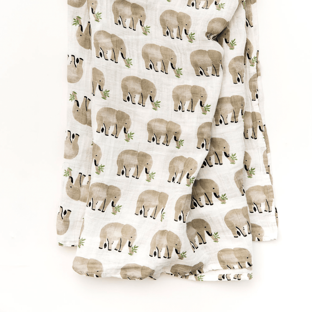 Elephant Swaddle Blanket - Project Nursery
