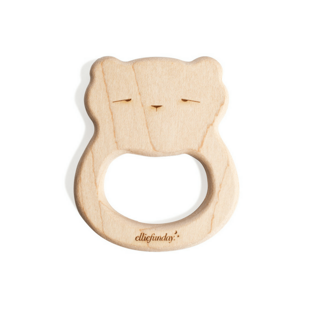 All-Natural Maple Wood Bear Teether - Project Nursery
