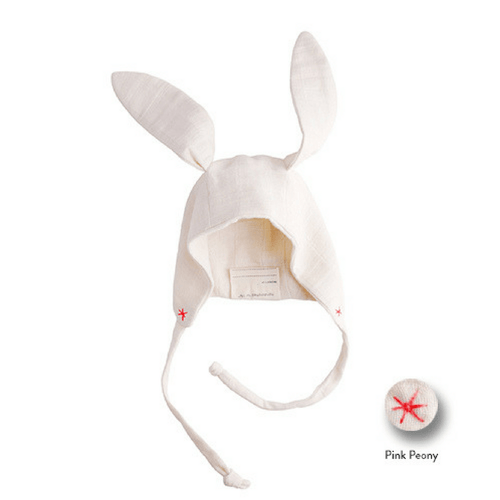 Organic Bunny Hat in Pink Peony - Project Nursery
