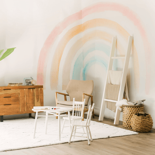 Elsi Rainbow Wallpaper Mural - Project Nursery