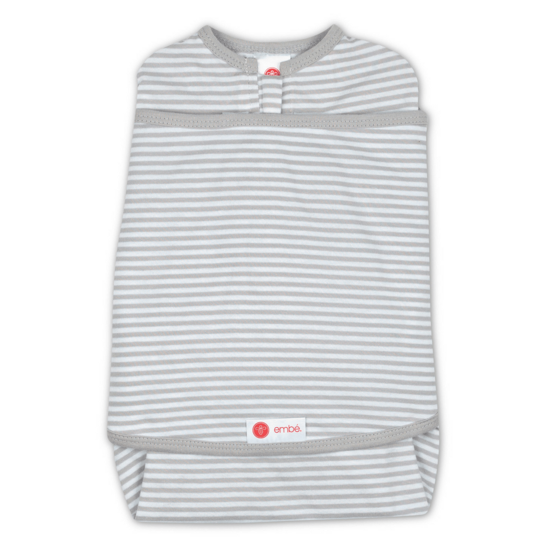 Starter 2-Way SwaddleOut - Classic Gray Stripe - Project Nursery