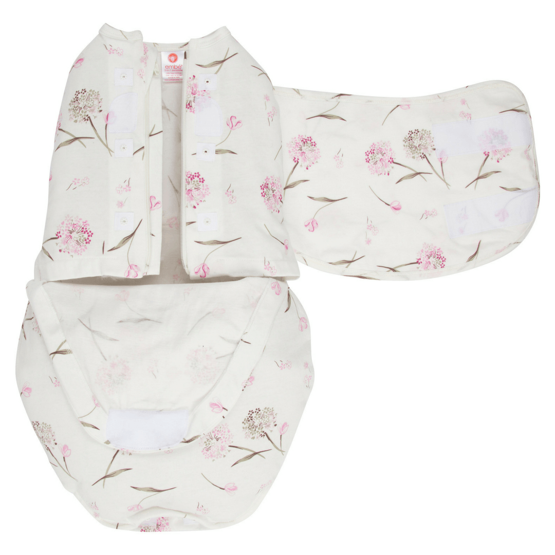 Starter 2-Way SwaddleOut - Classic Pink Clustered Flowers - Project Nursery