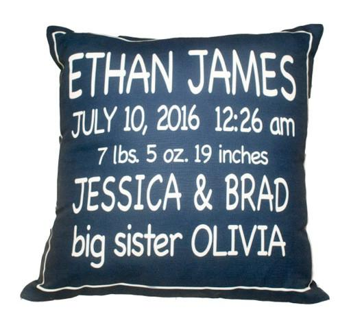Birth Announcement Pillow - Project Nursery
