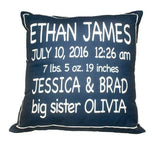Birth Announcement Pillow  - The Project Nursery Shop - 3