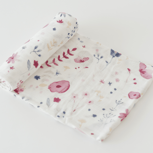 Deluxe Muslin Swaddle in Fairy Garden - Project Nursery