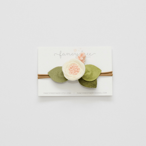 Felt Flower Headband in Ivory - Project Nursery