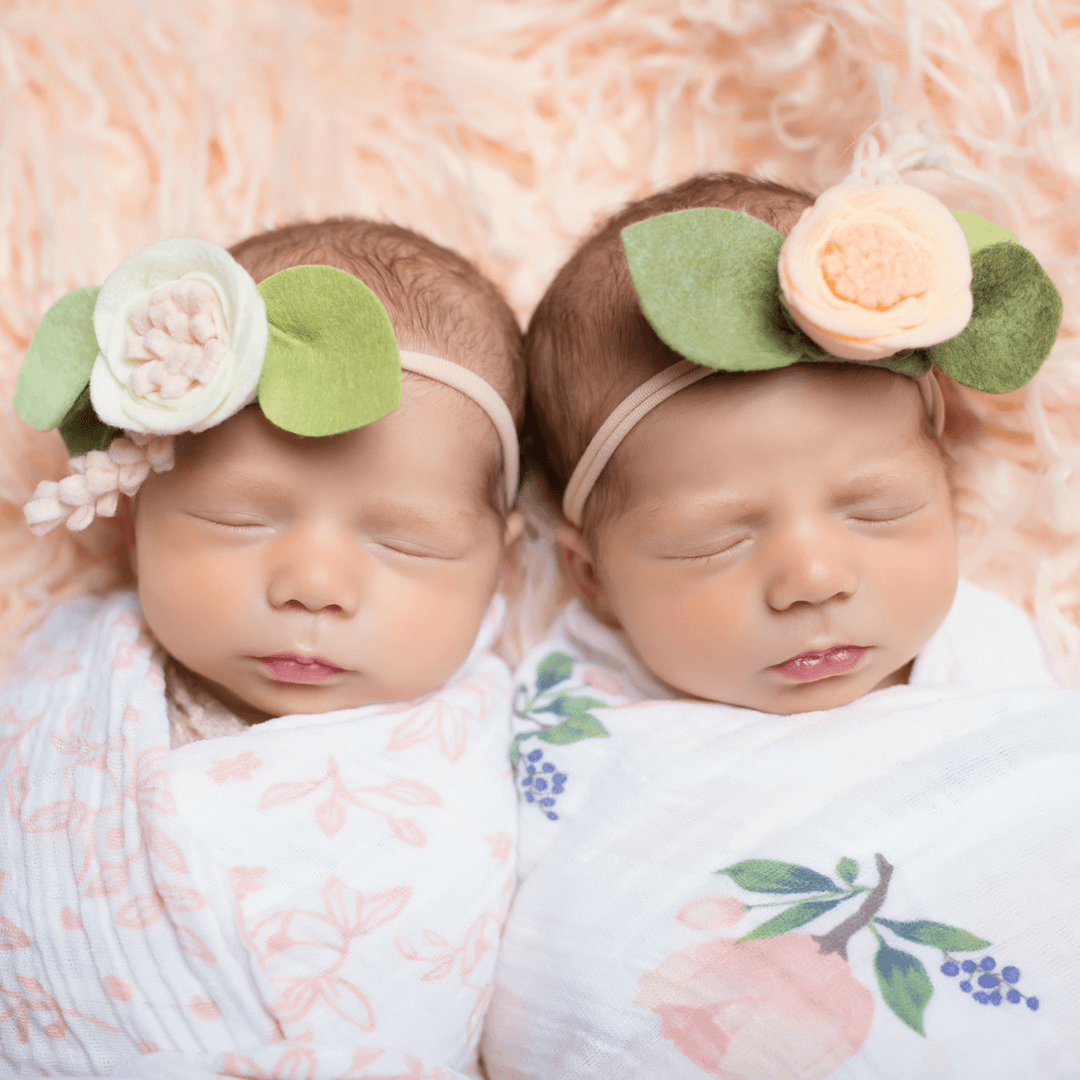 Felt Flower Headband in Petal Peach - Project Nursery