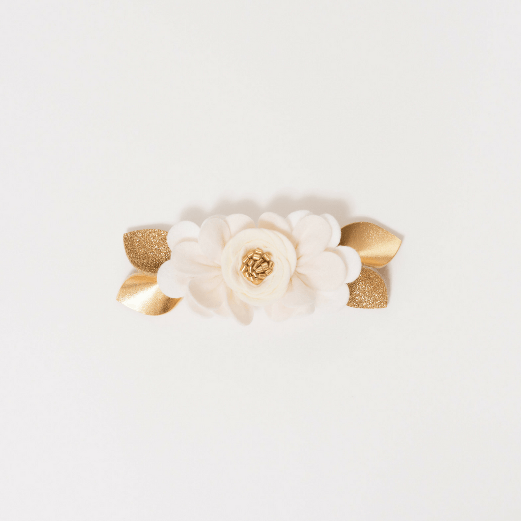 Felt Flower Pixie Crown in Ivory - Project Nursery