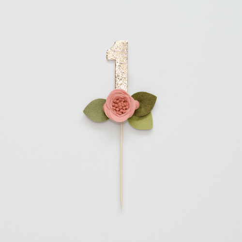 Flower Number Cake Topper - Project Nursery
