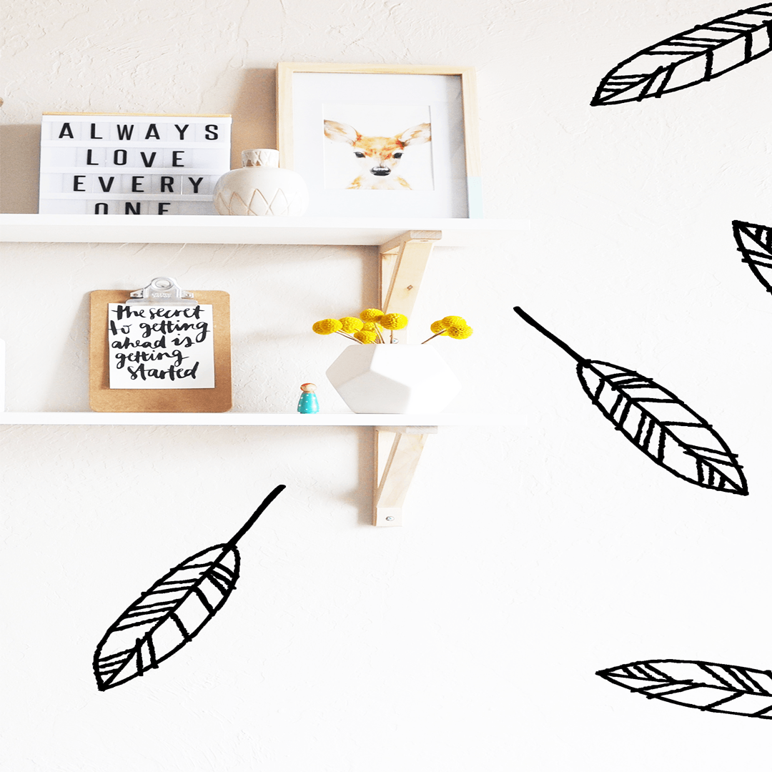 Open Feathers Wall Decal - Project Nursery