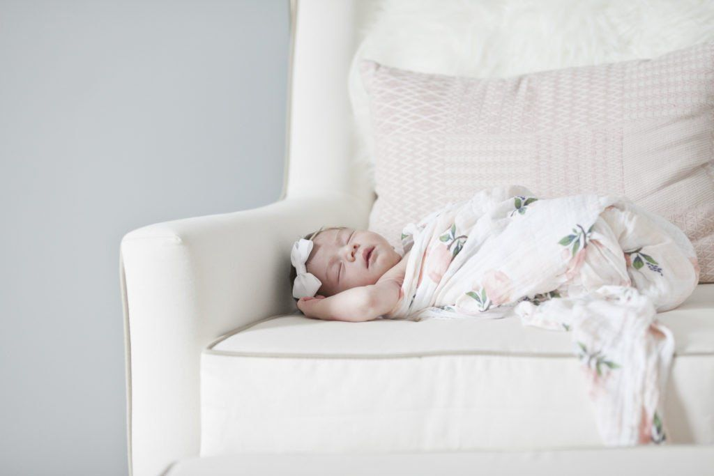 Watercolor Rose Swaddle  - The Project Nursery Shop - 8