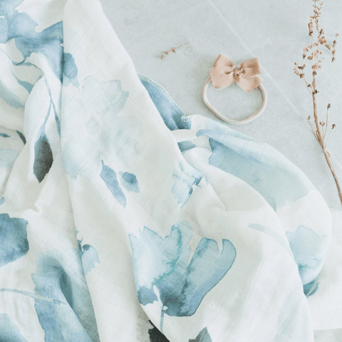 Organic Cotton Gauze Garland Swaddle
