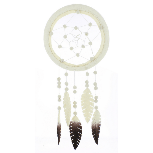 Cream Dreamcatcher with Ombre Feathers - Project Nursery