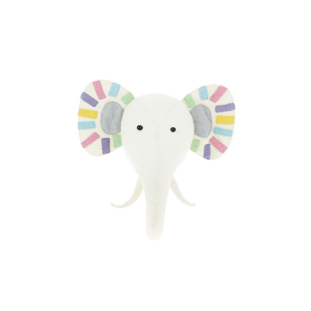 Pastel Safari Rock Elephant Semi