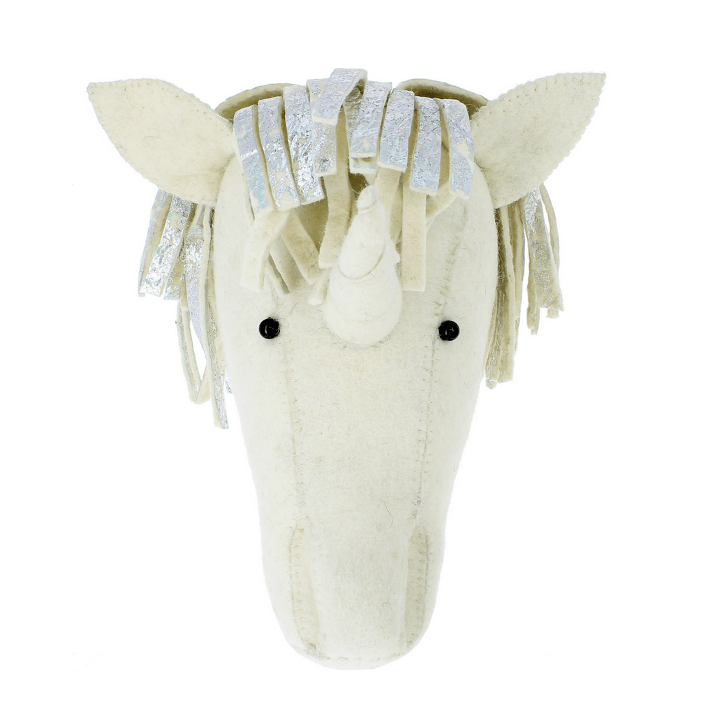 Semi-Size Silver Foil Unicorn Head Wall Hanging - Project Nursery