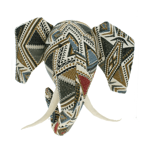 Tapestry Patchwork Elephant Head - Project Nursery