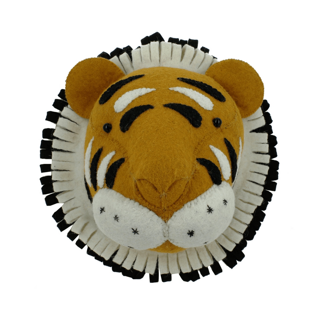 Mini Tiger Head Wall Hanging - Project Nursery