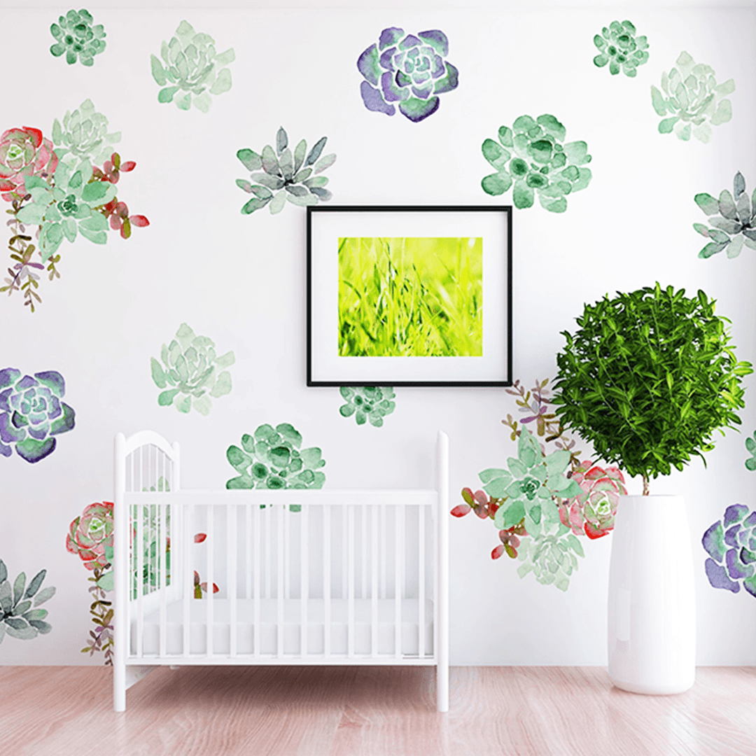 Fiona Succulent Wall Decal Set