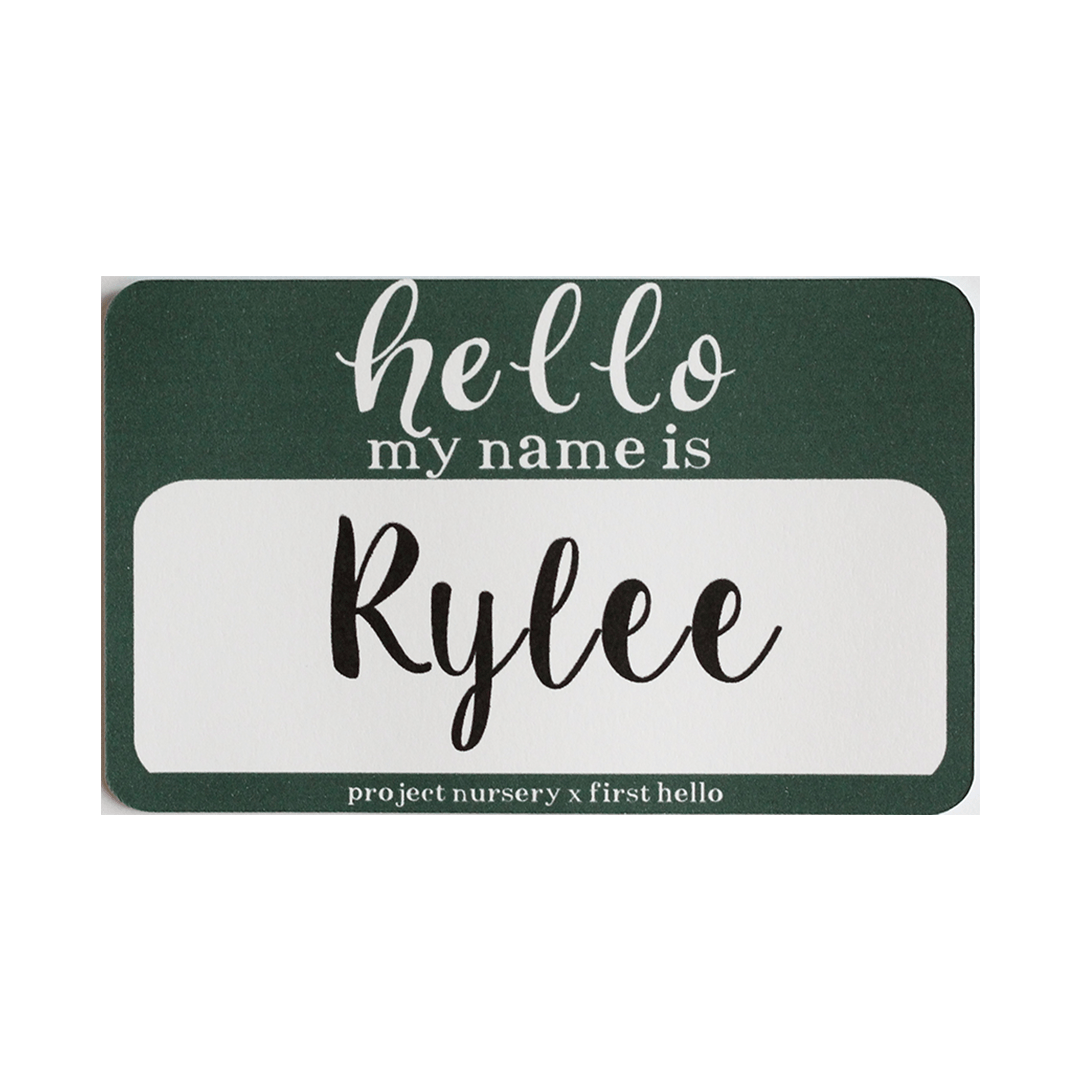 Birth Announcement Holiday Stickers - PN x First Hello Exclusive - Project Nursery