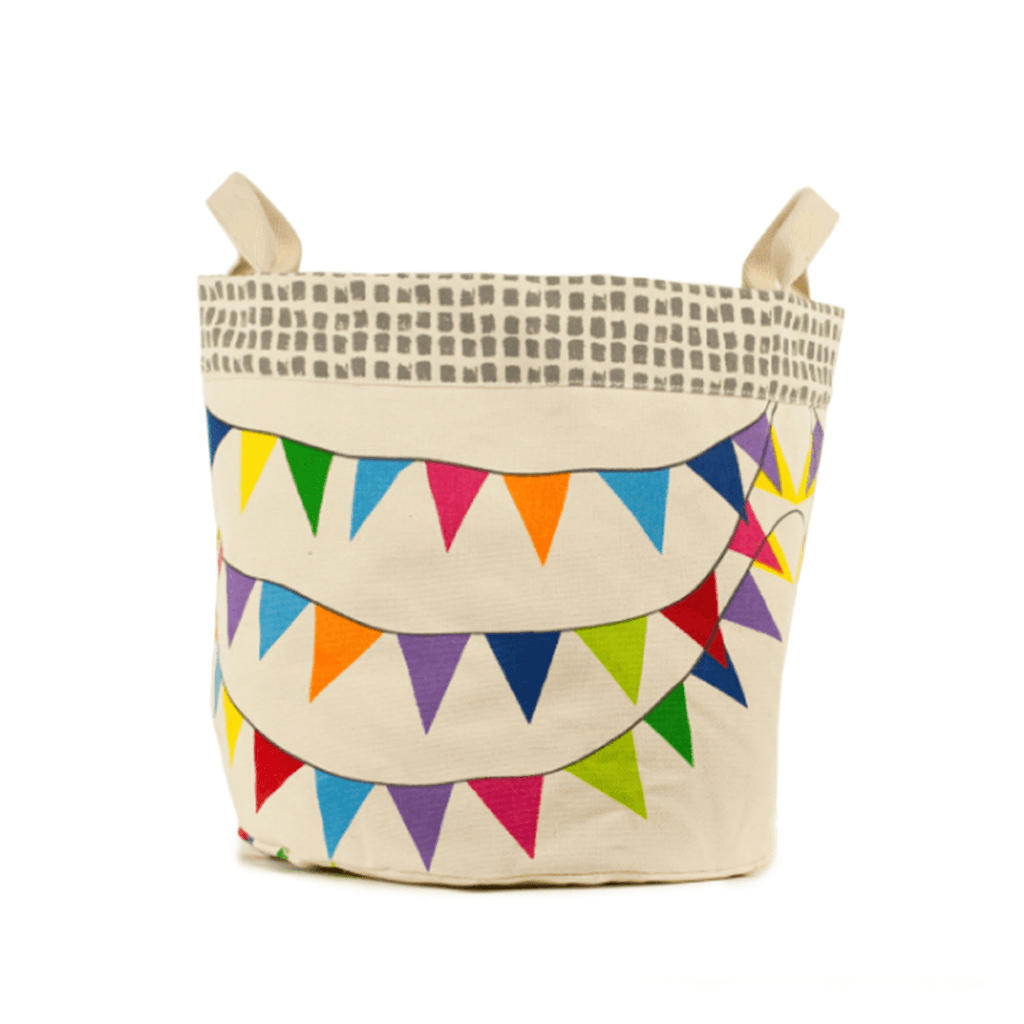 Flags Small Tote & Bin  - The Project Nursery Shop