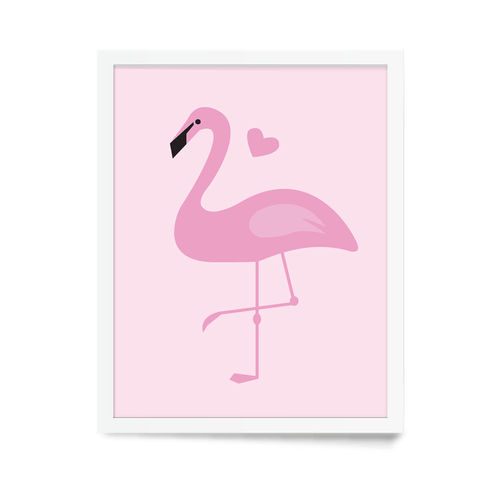 Pink Flamingo Art Print - Project Nursery