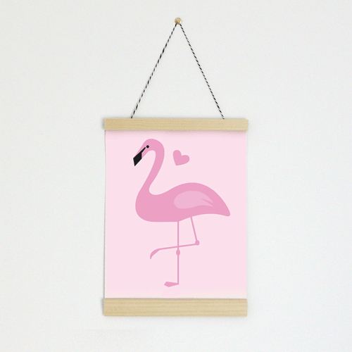 Pink Flamingo Canvas Banner - Project Nursery