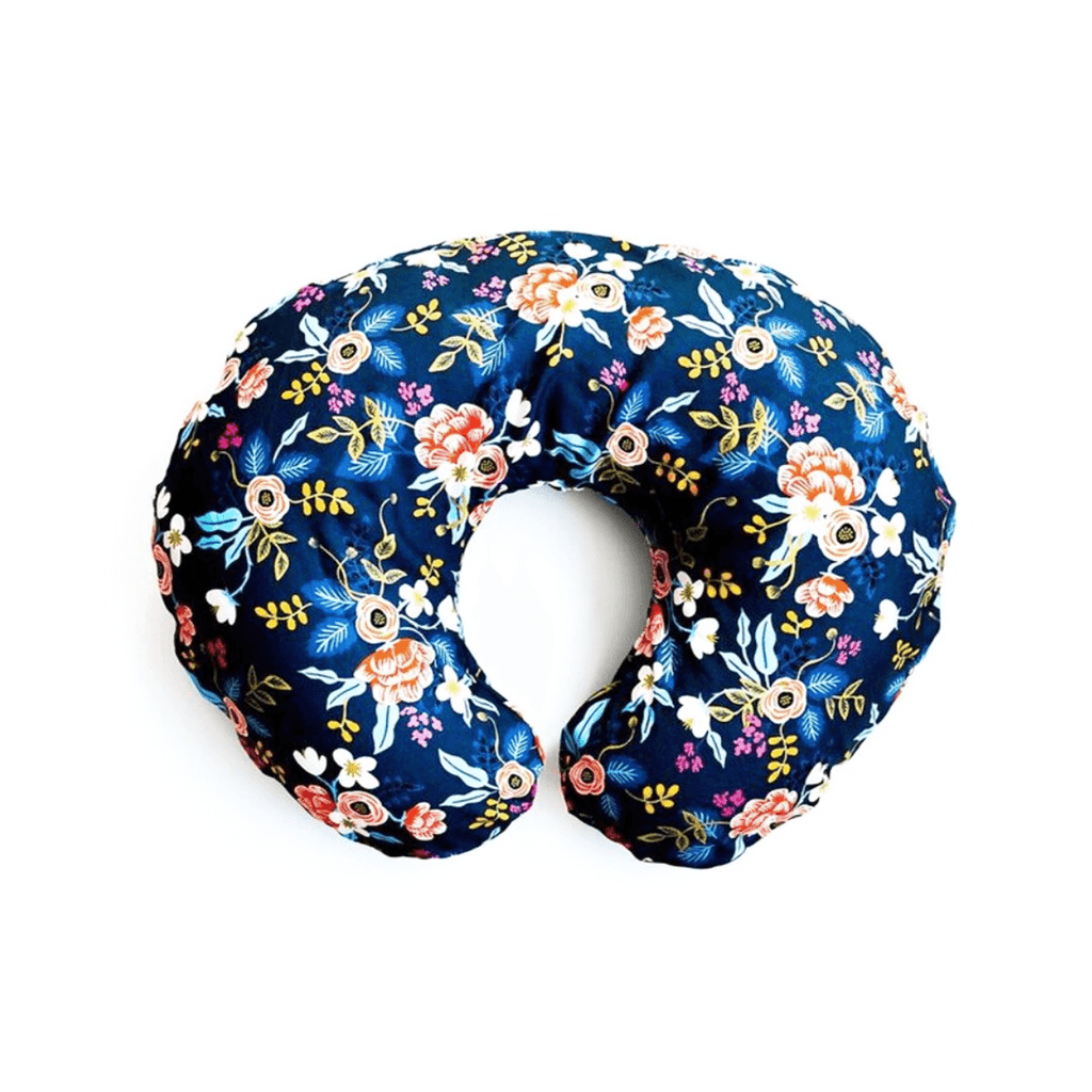 Navy Rifle Paper Floral Nursing Pillow Cover
