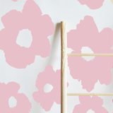Painted Floral Removable Wallpaper Tiles Fairy Pink - The Project Nursery Shop - 1
