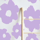 Painted Floral Removable Wallpaper Tiles Lilac - The Project Nursery Shop - 5