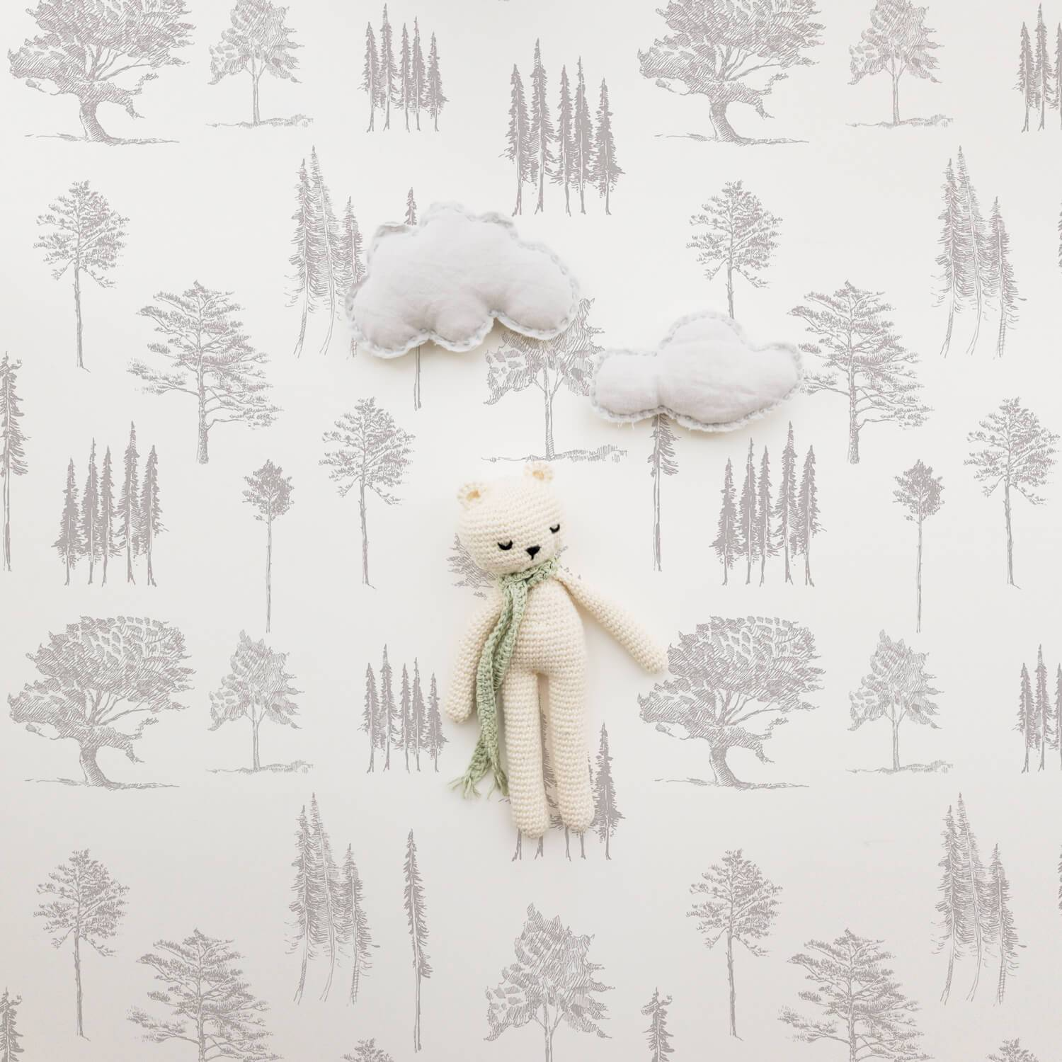 Minimal Forest Wallpaper - Project Nursery
