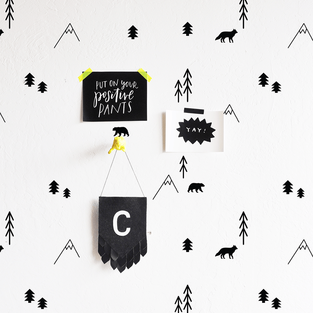 Forest Compilation Wall Decal Black - The Project Nursery Shop - 3