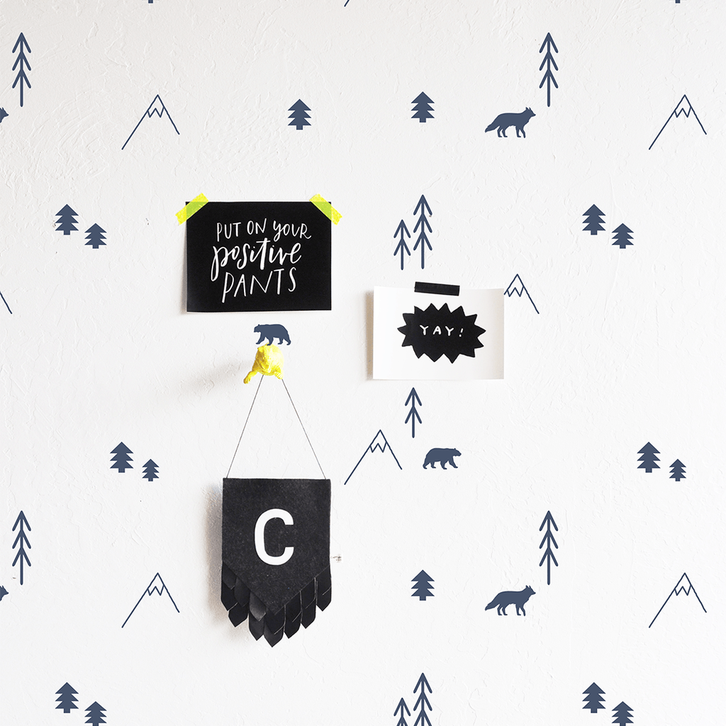 Forest Compilation Wall Decal Slate - The Project Nursery Shop - 1
