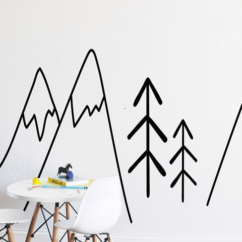 Mountain Retreat Colorful Compilation Wall Decal Set