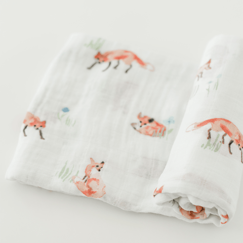 'Life Grows Lovely' Organic Swaddle Scarf