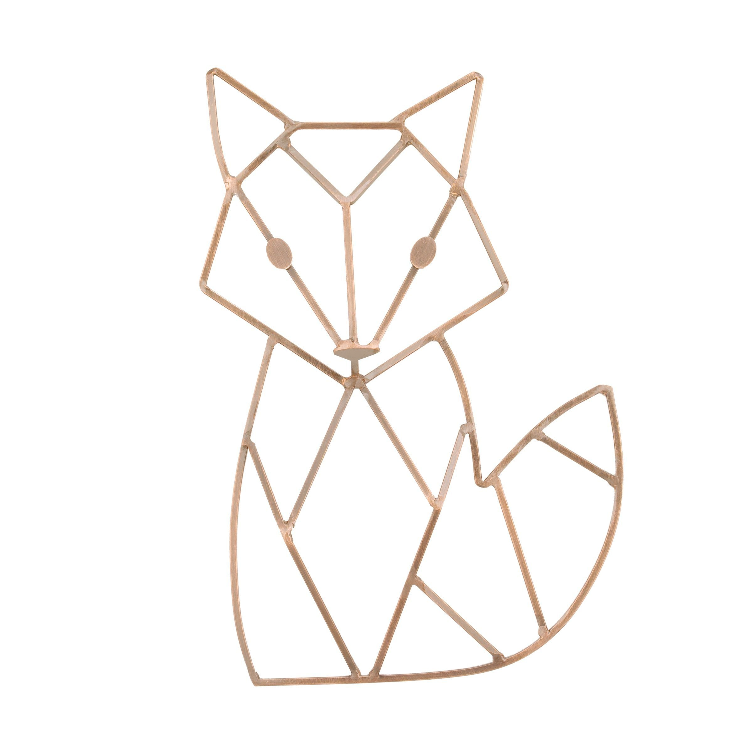Copper Finish Fox-Shaped Wire Nursery Wall Decor - Project Nursery