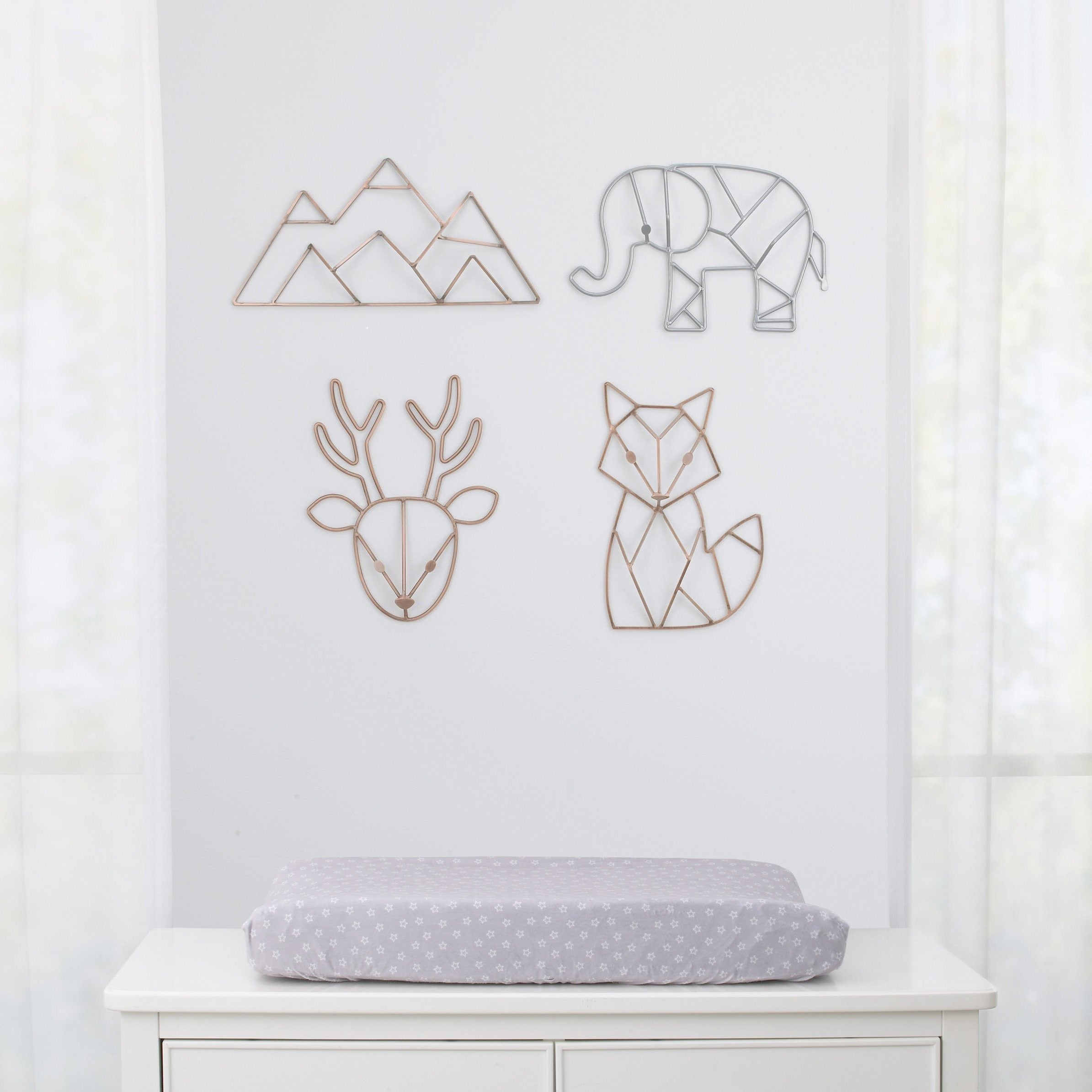 Fox Shaped Wire Nursery Wall Decor - Copper Finish - Project Nursery