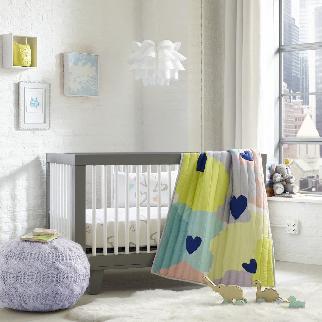 Abstract Affection Organic Cotton Crib Sheet  - The Project Nursery Shop - 2