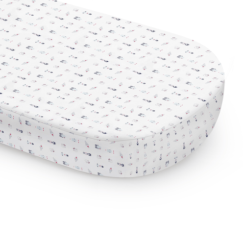 Galaxy Oval Fitted Crib Sheet - Project Nursery