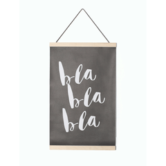Bla Bla Canvas Wall Hanging - Project Nursery