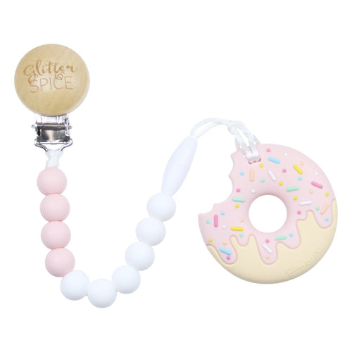 Donut Teether + Pacifier Clip - Project Nursery