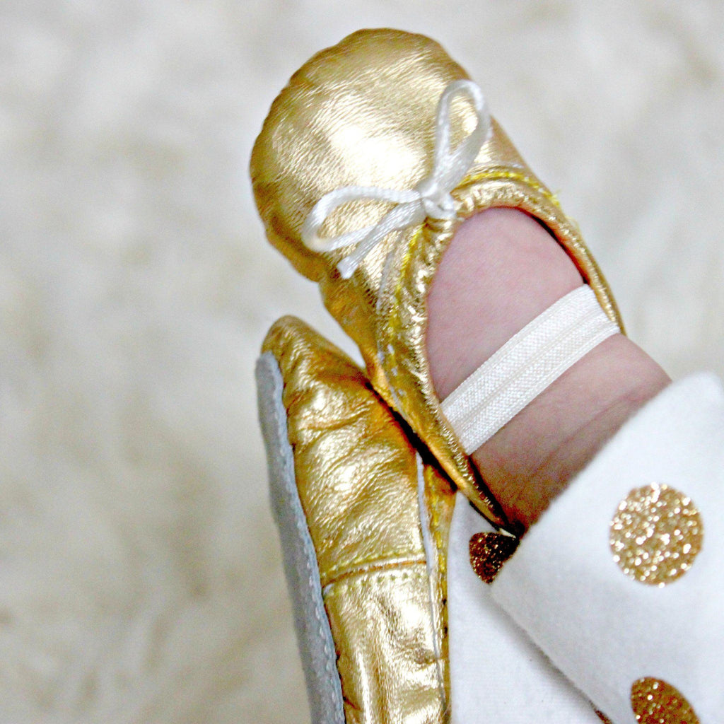 Gold Baby Ballet Slippers  - The Project Nursery Shop - 3