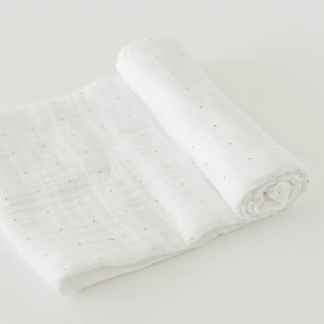 Gold Dot Swaddle - Project Nursery