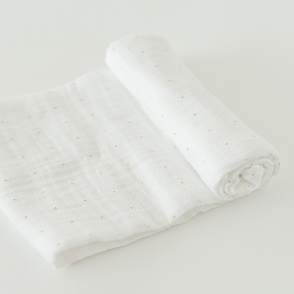Gold Dot Swaddle  - The Project Nursery Shop - 1