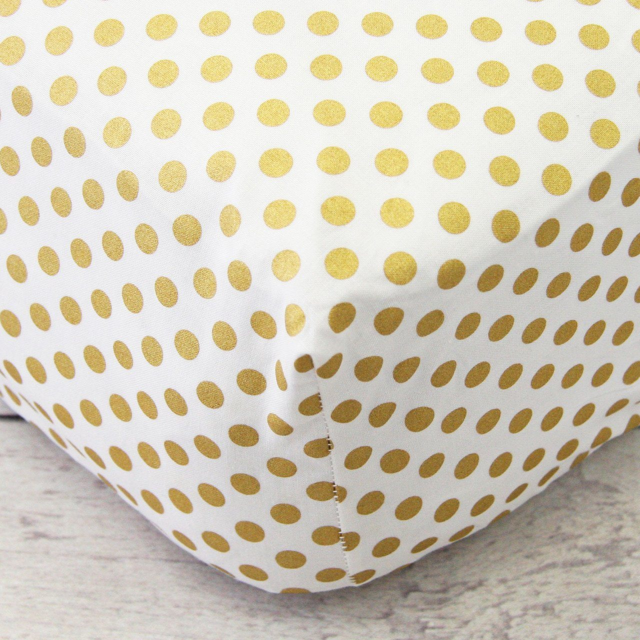 Metallic Gold Medium Dot Crib Sheet - Default