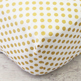 Metallic Gold Medium Dot Crib Sheet  - The Project Nursery Shop - 1