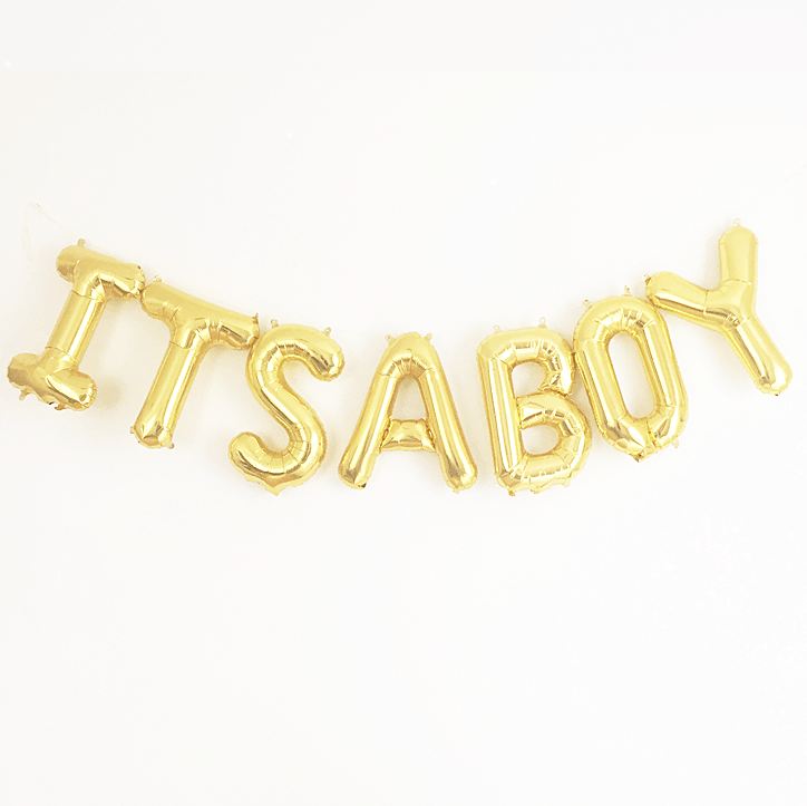 It's A Boy Mylar Banner - Project Nursery